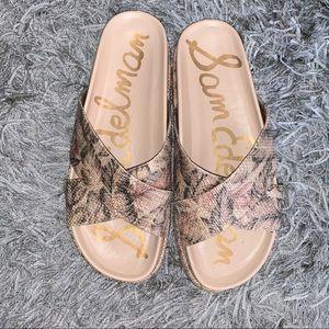 NWOT SAM EDELMAN SIZE 9 platform sandals